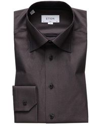 Eton of Sweden Slim Fit Shirt - Bruin