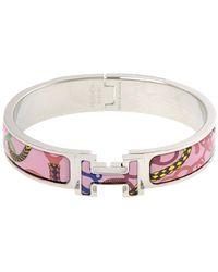 Hermès Clic Clac H Armband Pm Metaal Sv925 - Roze