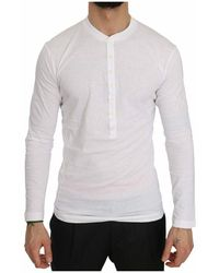 DSquared² Logo Print Henley Top - Wit