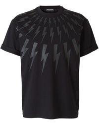 Neil Barrett Lightning Bolts T-shirt - Schwarz