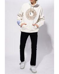 Alexander McQueen - Sudadera con logo Blanco - Lyst
