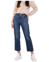 Levi's Ribcage Straight Ankle Jeans - Blauw