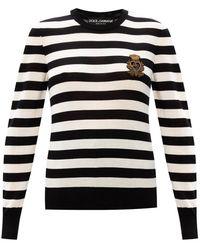 Emporio Armani Cashmere sweater with logo - Nero
