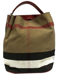 Burberry Pre-owned Big Check Canvas Bucket Bag - Bruin