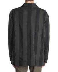 Vivienne Westwood Striped Caban Negro
