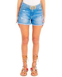 Pinko - Shorts Con Fibbia Logo Brooklyn 1j10n0 Y649 - Lyst