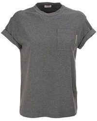 Brunello Cucinelli - T-shirt - Lyst