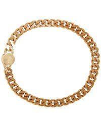 Versace Brass Choker Necklace Naranja