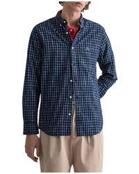 GANT D1.reg Yarns Overhemd - Blauw