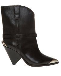 Isabel Marant Lamsy Heeled Ankle Boots - Zwart