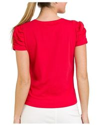 Naf Naf Camiseta Rojo