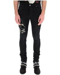 Giuseppe Zanotti Slim Fit Jeans - Zwart