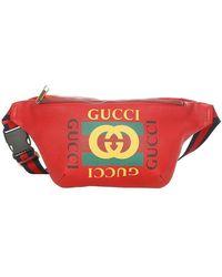 Gucci 2018 Logo Belt Bag Leather Calf - Rood