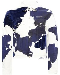 Soulland Jacket Made Of Cotton Denim - Blauw