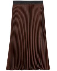 Luisa Cerano Pleated skirt - Marrone