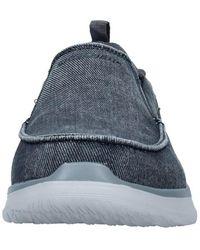 Skechers Suede loafers laccetto - Blau