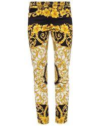 Versace Baroque Motif Jeans - Geel