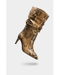 Paris Texas Boots With Snake Effect - Bruin