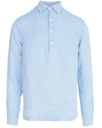 Barena Pavan Linen Shirt - Bleu