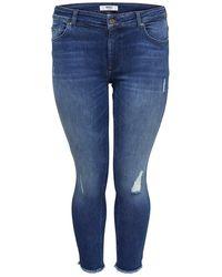 Only Carmakoma Skinny Jeans Curvy Willy Reg Ankle - Blauw