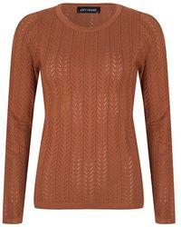 Lofty Manner Mk06 Sweater Ayla Trui - Bruin