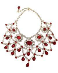 Dolce & Gabbana Filigree Choker Collar Bib Necklace - Rood