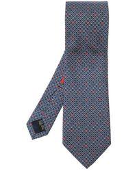 Ferragamo Patterned Tie - Blauw