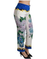 Dolce & Gabbana - Hydrangea Straight Mid Taille Broek - Lyst