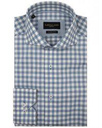 Cavallaro Shirt Stevano - Bleu