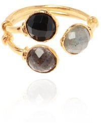 Gas Bijoux Duality Serti Ring - Geel