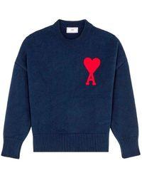 AMI Oversized Sweater - Blu