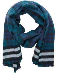 Jack & Jones Sjaal Geruite - Blauw
