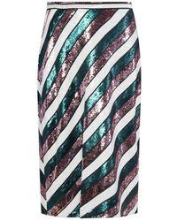 Diane von Furstenberg Sequinned Skirt - Groen