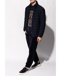 Giorgio Armani Jacket with high collar Azul