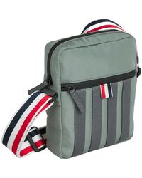 Thom Browne Four-bar Messenger Bag - Groen