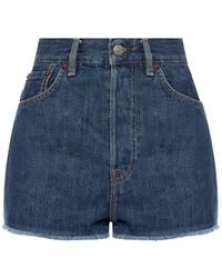 Acne Studios High-waisted Shorts - Blauw