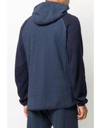 Brunello Cucinelli Logo embroidered hoodie Azul