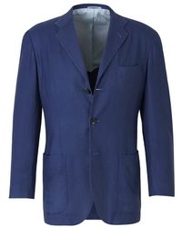Kiton Cashmere Blazer - Blauw