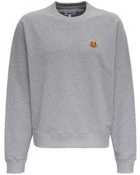 KENZO - Sweatshirt With Tiger Patch - Lyst