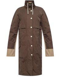 Yves Salomon Hooded Jacket - Bruin