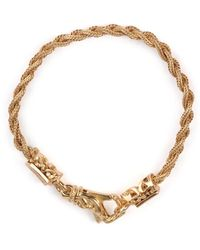 Emanuele Bicocchi Tiny Braided Bracelet - Geel