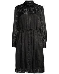 Karl Lagerfeld Burn Out Logo Dress - Zwart