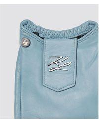Karl Lagerfeld Gloves Azul