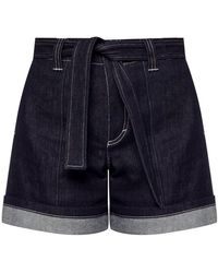 Chloé High-waisted Denim Shorts - Blauw
