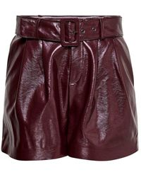 ONLY Shorts Leatherlook - Meerkleurig