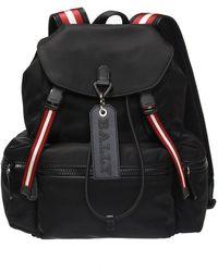 Bally Backpack With Logo Pendant - Zwart