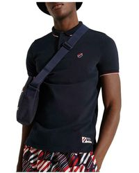Superdry Polo Sportstyle Twin Tipped - Schwarz