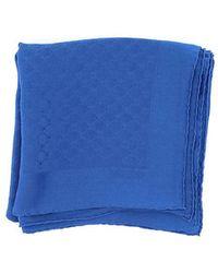 Moschino Foulard seta jacquard - Bleu
