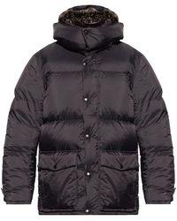Yves Salomon Down Jacket With Fox Fur - Zwart
