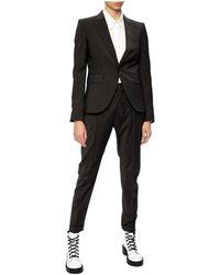 DSquared² Striped Suit - Zwart